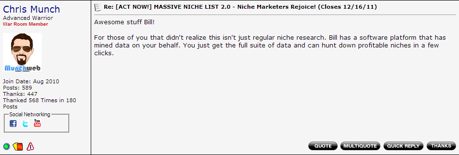Massive Niche List Review #3