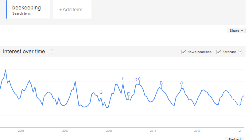 beekeeping google trends