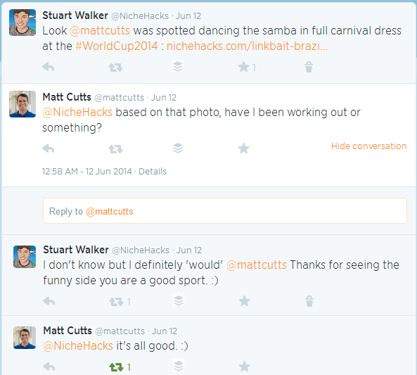 Matt Cutts twitter convo
