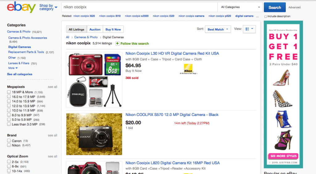 ebay product search