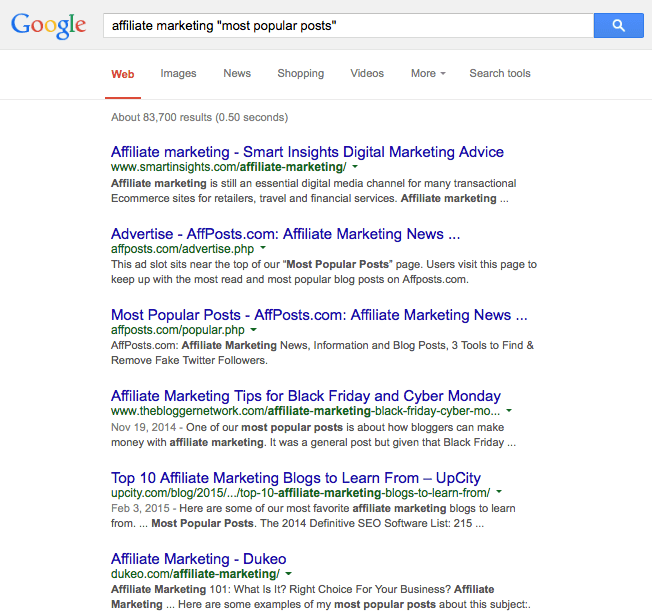 google search affiliate marketing