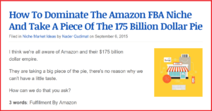This Amazon FBA niche report was popular