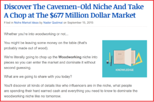 It might surprise you but the Woodworking niche is VERY profitable
