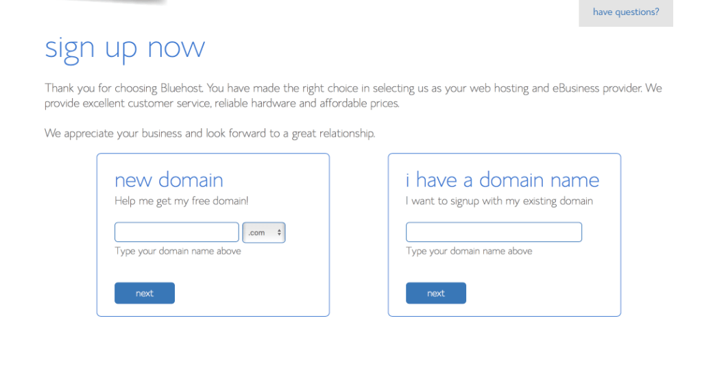 choose domain