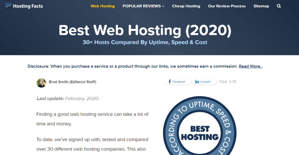 Hosting Facts web hosting review