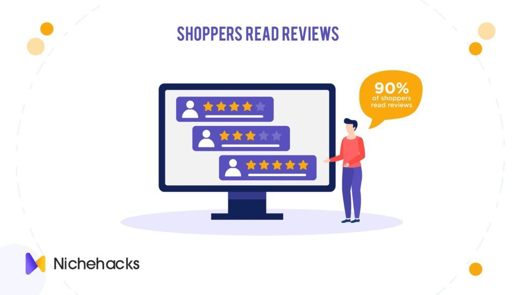 90% of shoppers read reviews