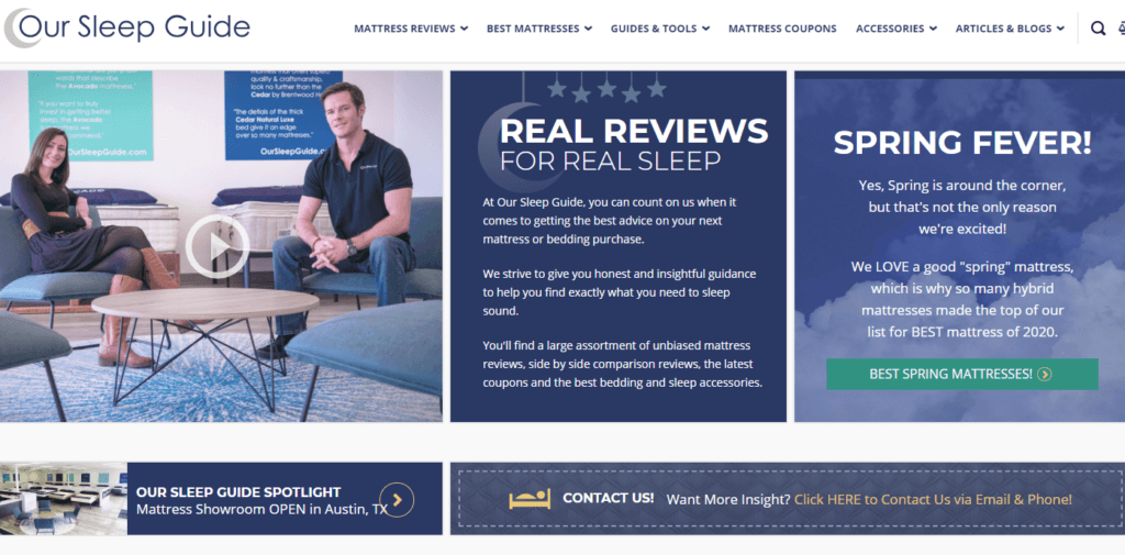 mattress comparison site Our Sleep Guide