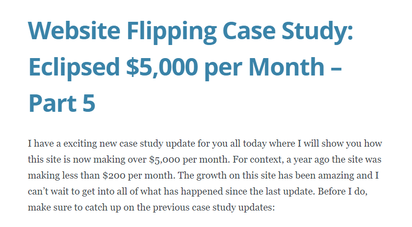 website flipping makes more than $5,000 per month